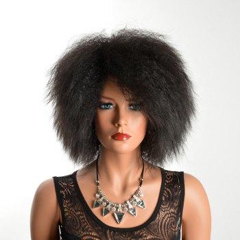 Adiors Medium African Curly Fluffy Synthetic Hair
