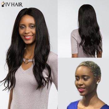 Siv Hair Perm Dyed Free Part Long Natural Straight Lace Front Human Hair Wig