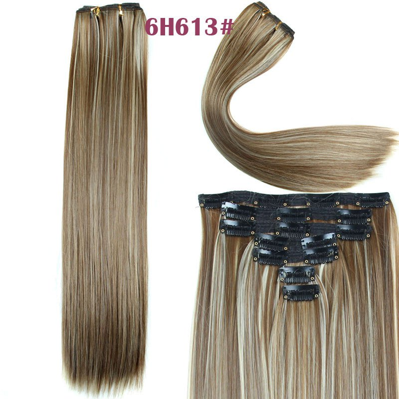 Women's Long Straight Clip-In Synthetic Stylish Hair Extension