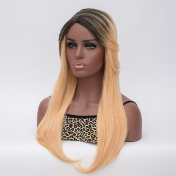 Gorgeous Black Blonde Ombre Capless Long Synthetic Adiors Wig For Women