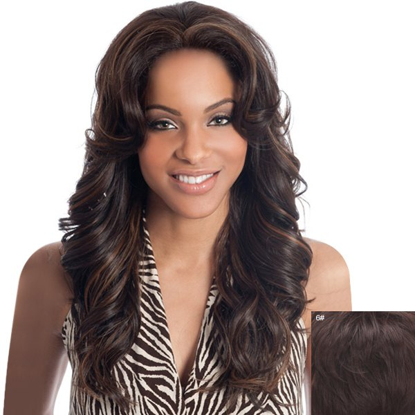 Trendy Long Lace Front Assorted Color Towheaded Curly Real Natural Hair Wig For Women