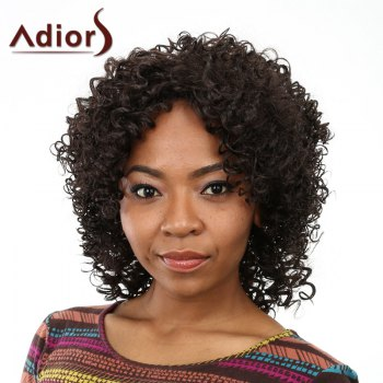 Fashion Shaggy Afro Curly Long Capless Black Women's Heat Resistant Fiber Wig