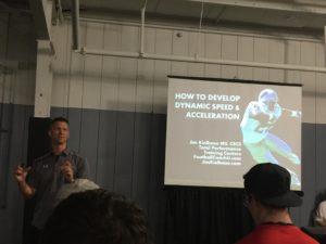 Jim Kielbasa discussing acceleration training.