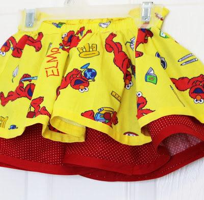 Double Layer Circle Elmo Skirt