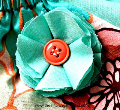 Easy Peasy Freehand Fabric Flower