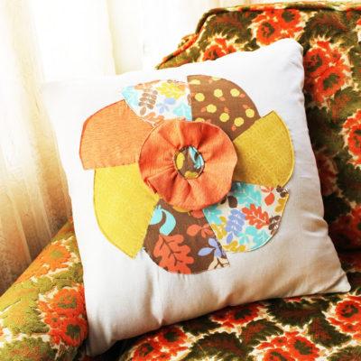 Fall Inspired Pinwheel Pillow Case Free Pattern