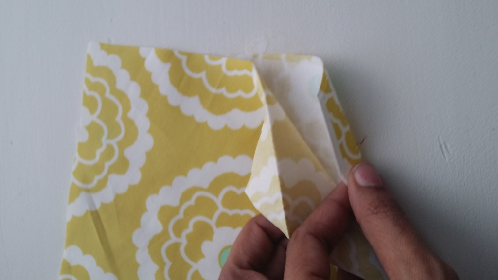 Form the sandwich with the interfacing in the middle.