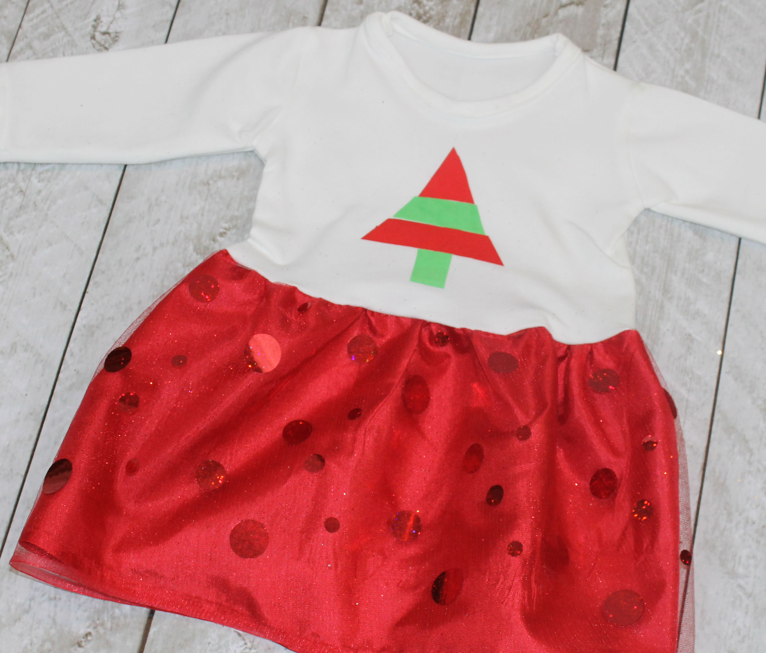 Baby Christmas Dress with Free Pattern
