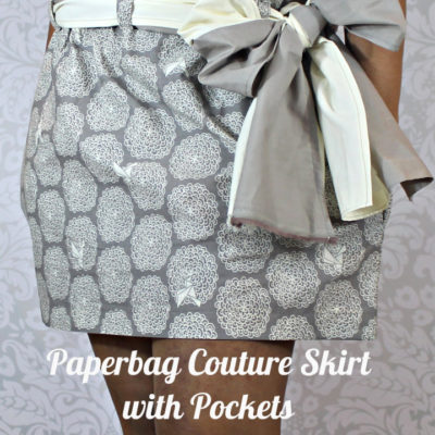Mini Paperbag Couture Skirt with Pockets