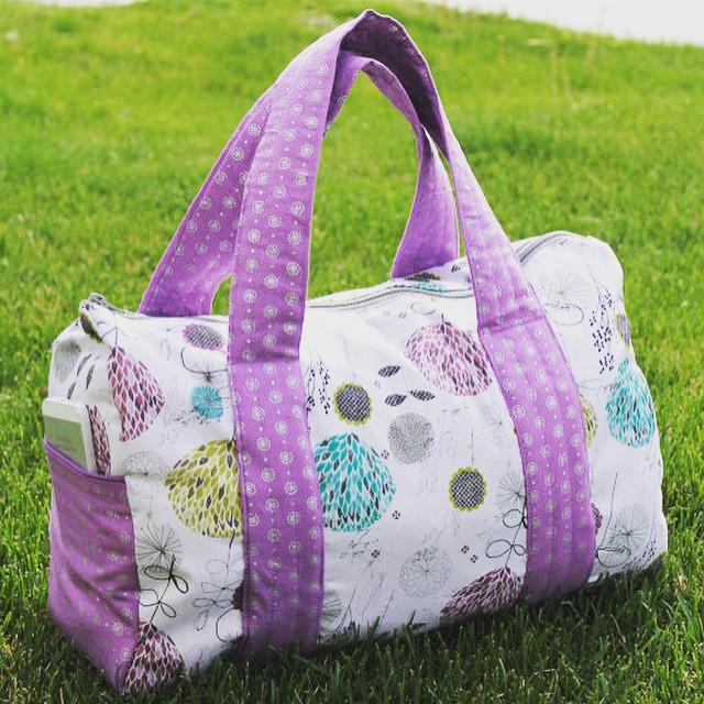 Free Pattern Overnight Duffel Bag