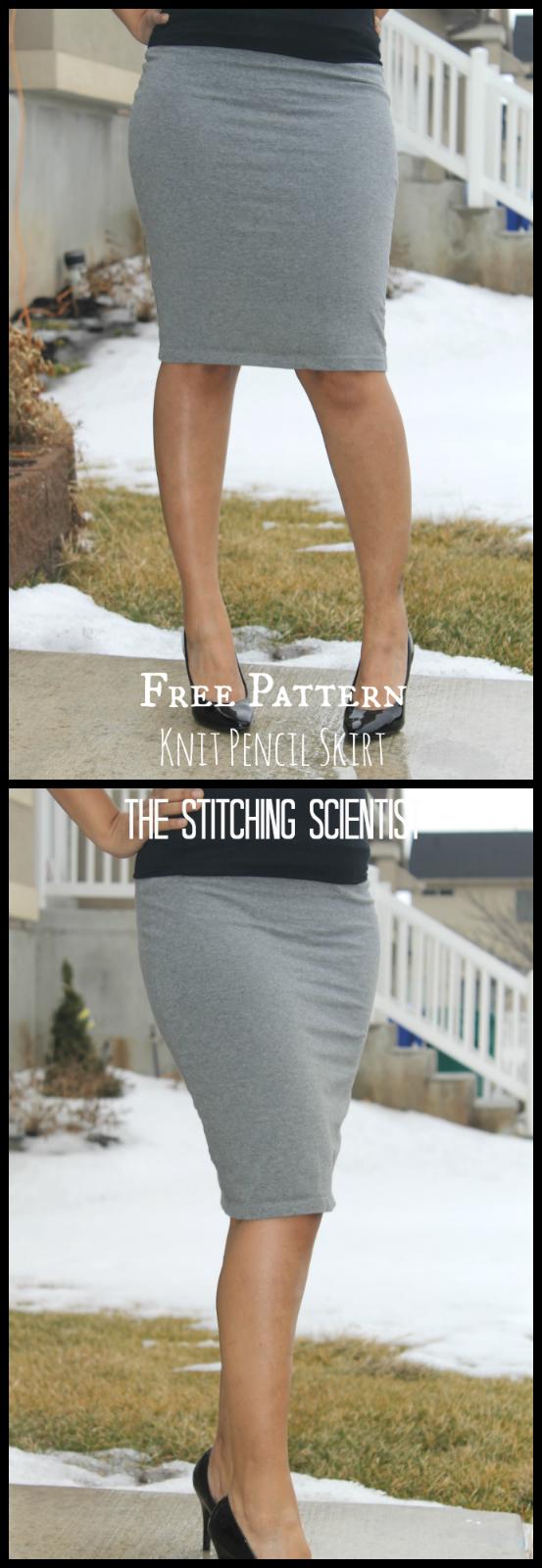 Free Skirt Patterns-Sexy Knit Pencil Skirt