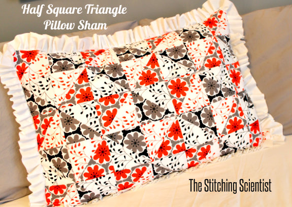 Half Square Triangle Pillow Sham