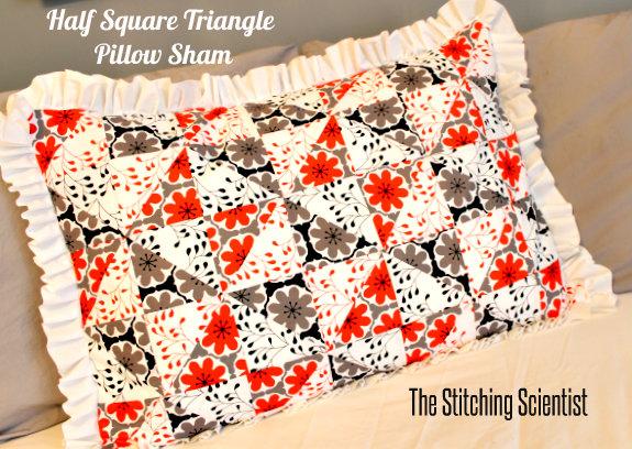 Half Square Triangle Pillow Sham
