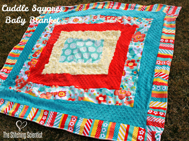Cuddle™  Squares Baby Blanket with Free Pattern