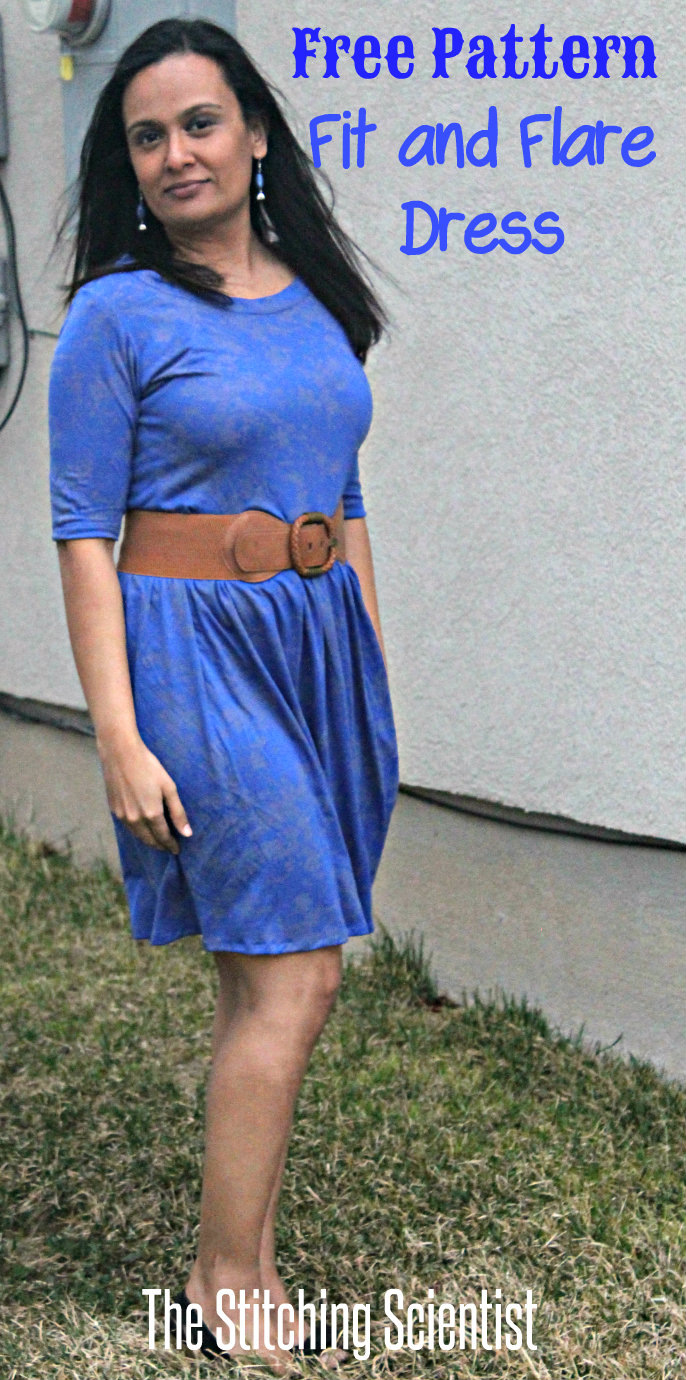 Womens Fit and Flare Dress with Free Pattern