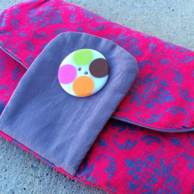 Curvy Flap Clutch with Free Pattern