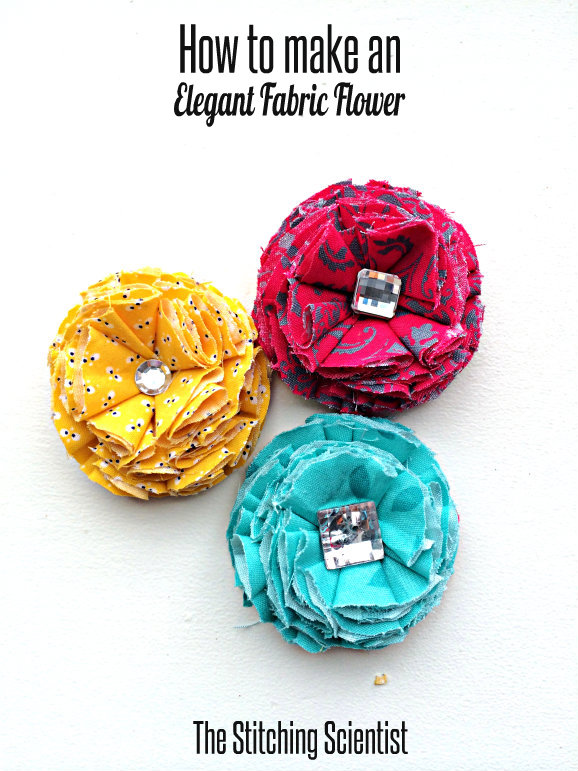 How to make an elegant fabric flower