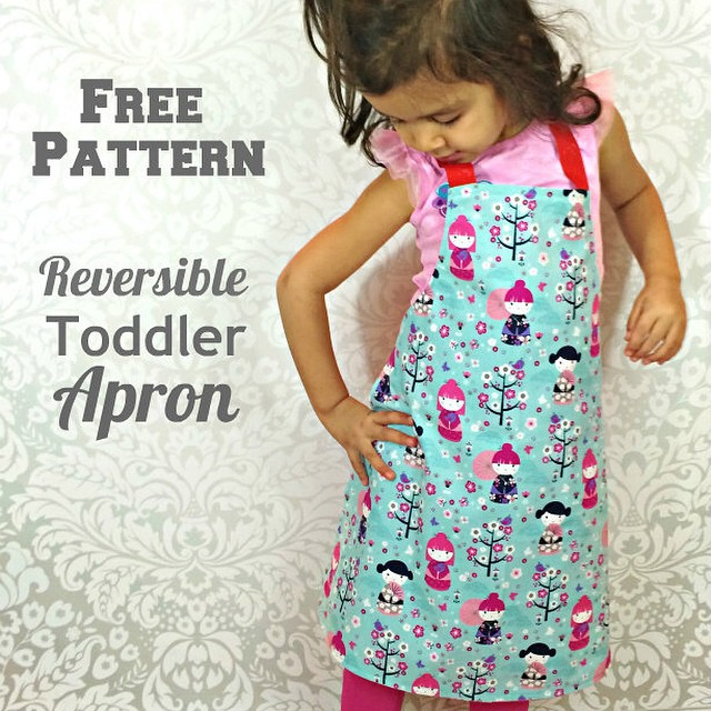 Sewing for Kids-Reversible Toddler Apron