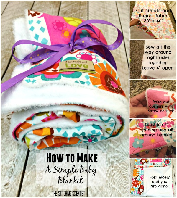 How to sew a simple baby blanket