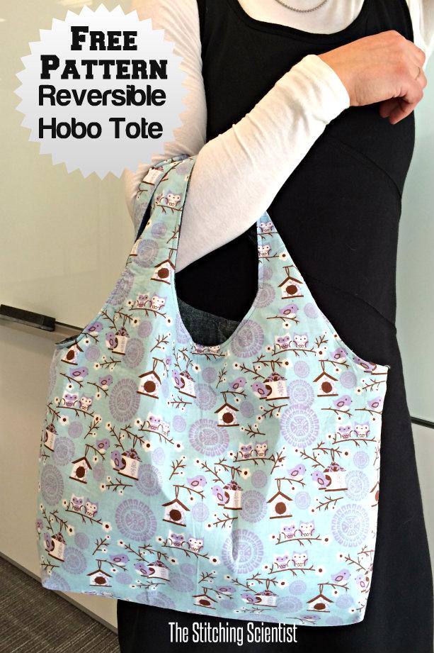Reversible Hobo Beginner Bag Pattern