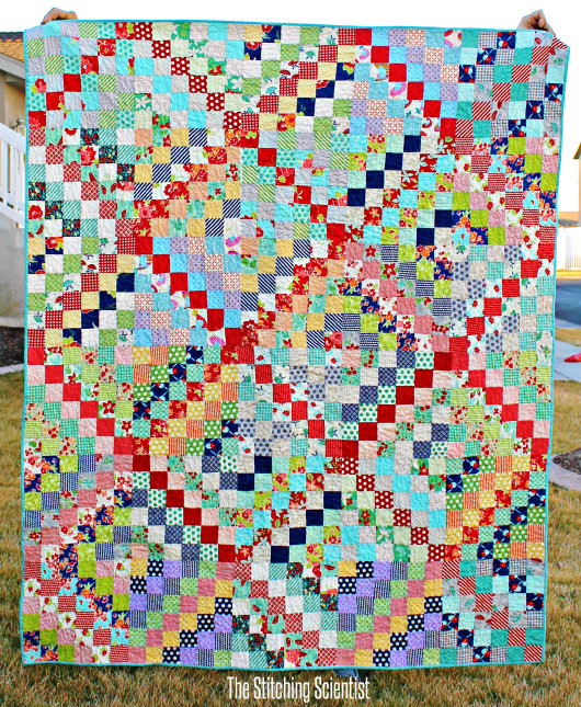 Scrappy Trip Along Quilt Pattern