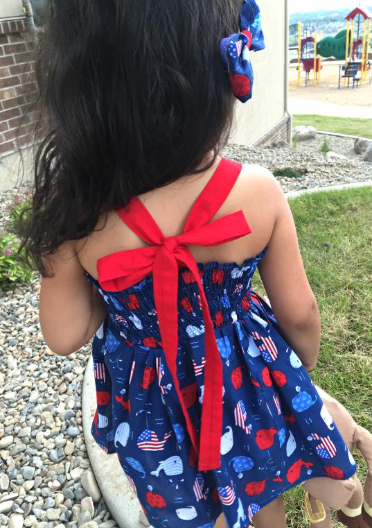 July 4th La Jolla Bow Dress