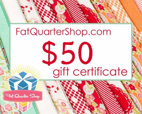 The Fat Quarter Shop Anniversary Giveaway