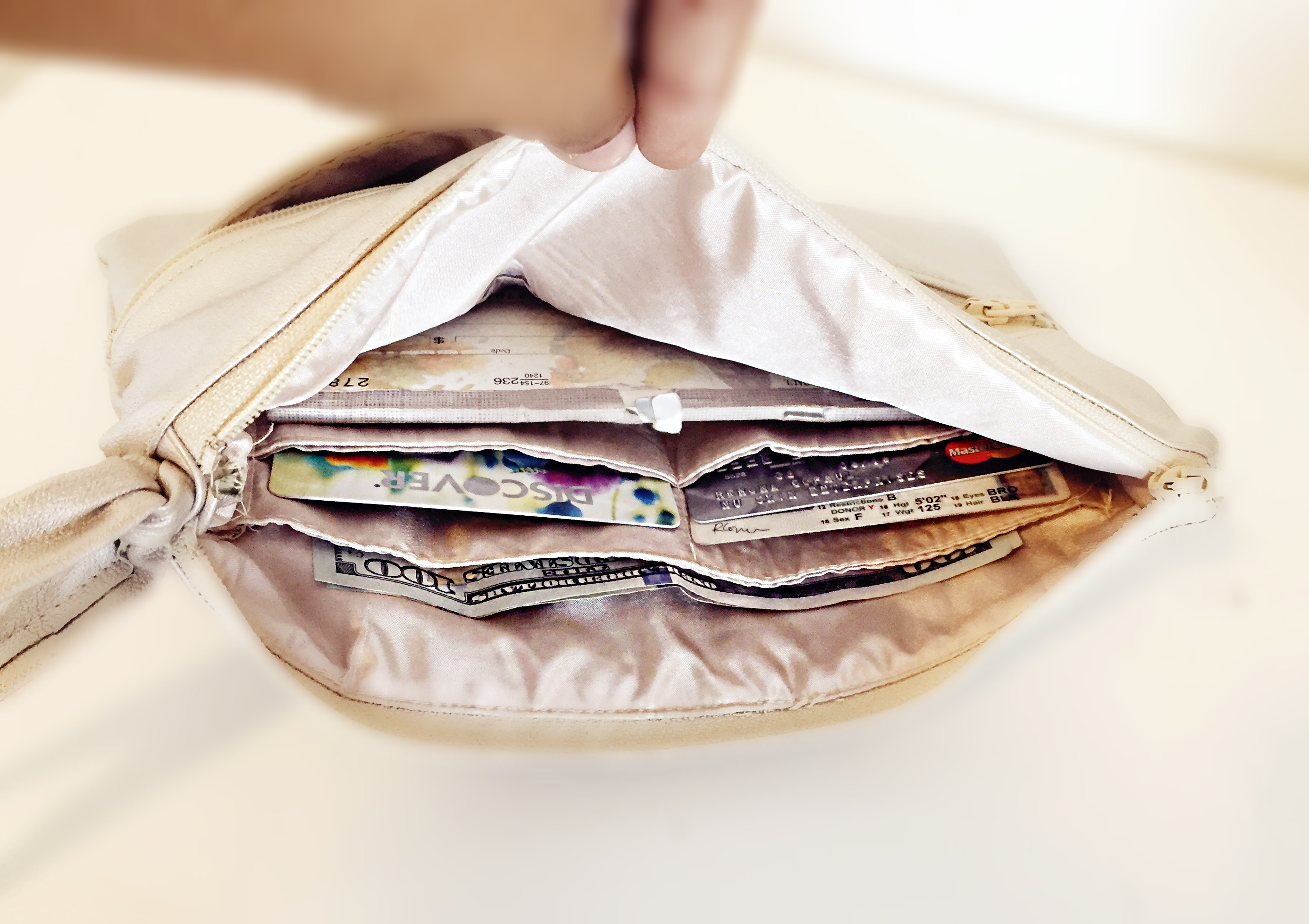 Leather Glam Wallet Clutch