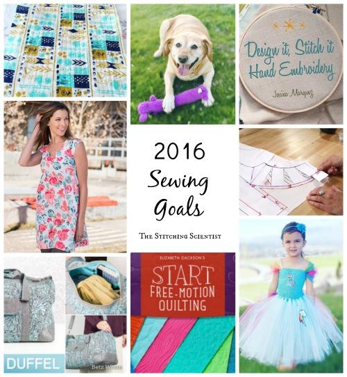 2016 Sewing Goals