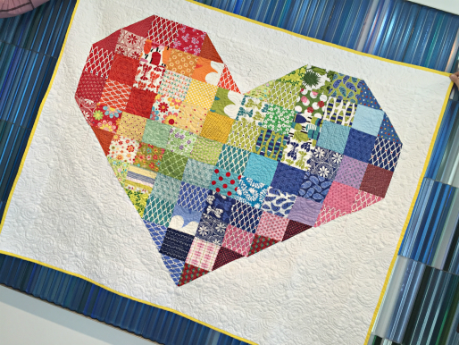 Wall Hanging Heart Quilt
