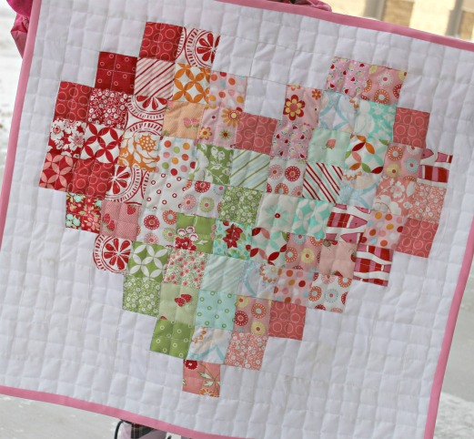 Pixel Heart Mini Quilt
