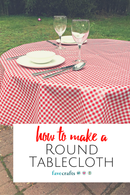 How to make an easy no-sew tablecloth