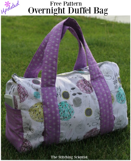 Free Overnight Duffel Bag Pattern-Updated