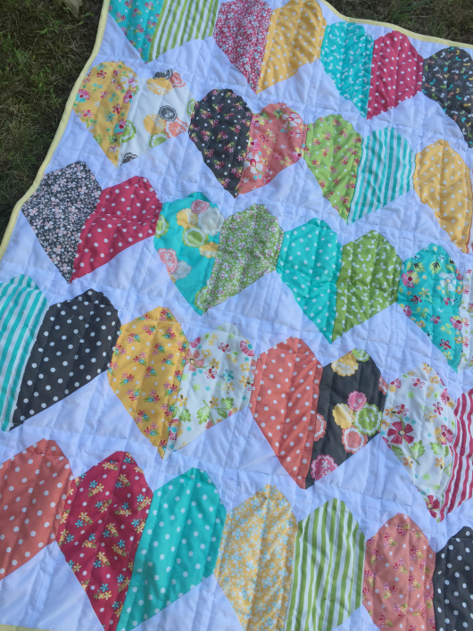Jolly Bar Paper Hearts Quilt