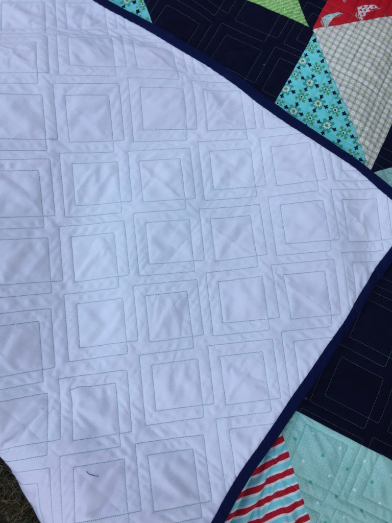 Square Wheel Quilt backing