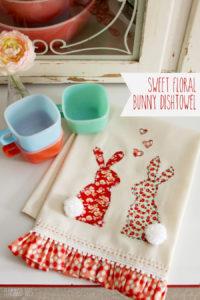 Bunny Dishtowel
