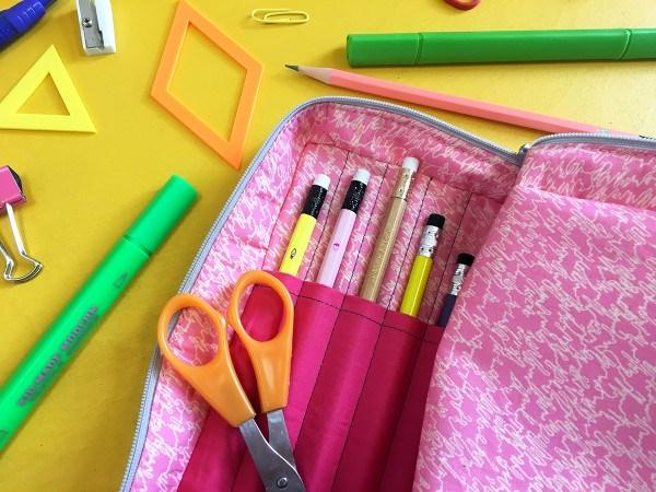 Open wide pencil case