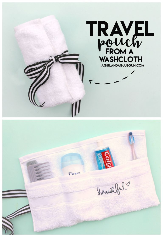 washcloth travel pouch
