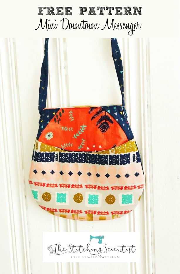 Free Pattern Mini Downtown Messenger Bag