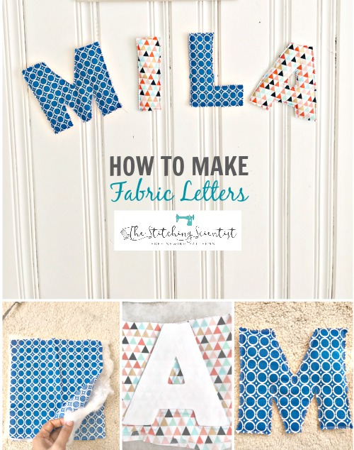 DIY 10 Minute Fabric Letters Name Decor
