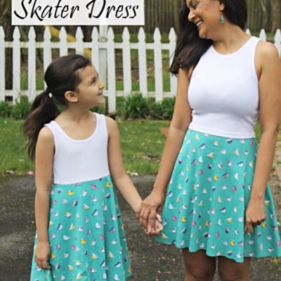 DIY 10 minute Skater Dress