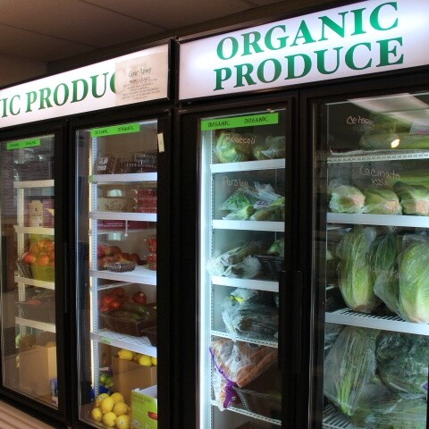 Organic product delivered or curbside pick up
