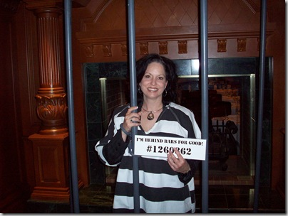 Candace behind bars