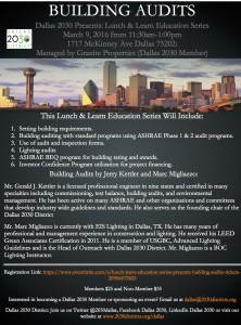 Dallas 2030 Lunch and Learn Education Series: Building Audits