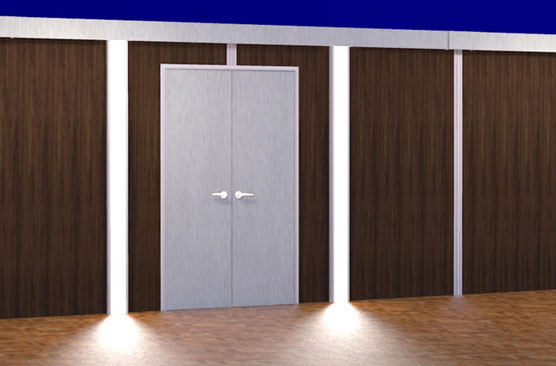 sunwalls french doors with led lighting connectors