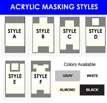 acrylic masking styles