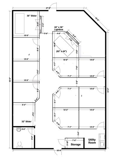 tanning salon layout blueprint