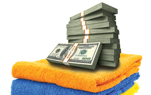 EcoWasher saves you money with pile of cash