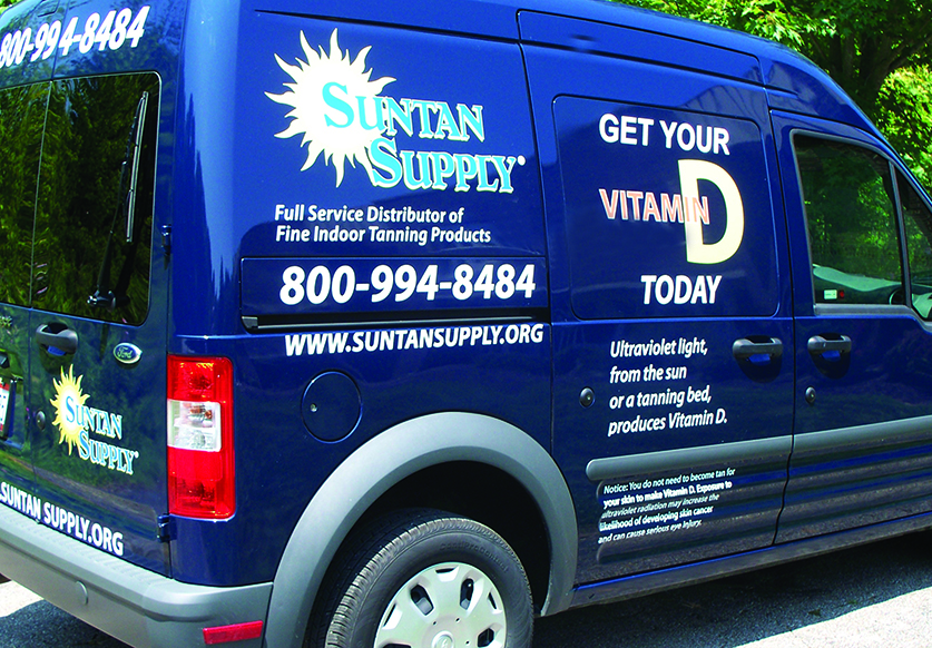 suntan supply service department truck van vehicle