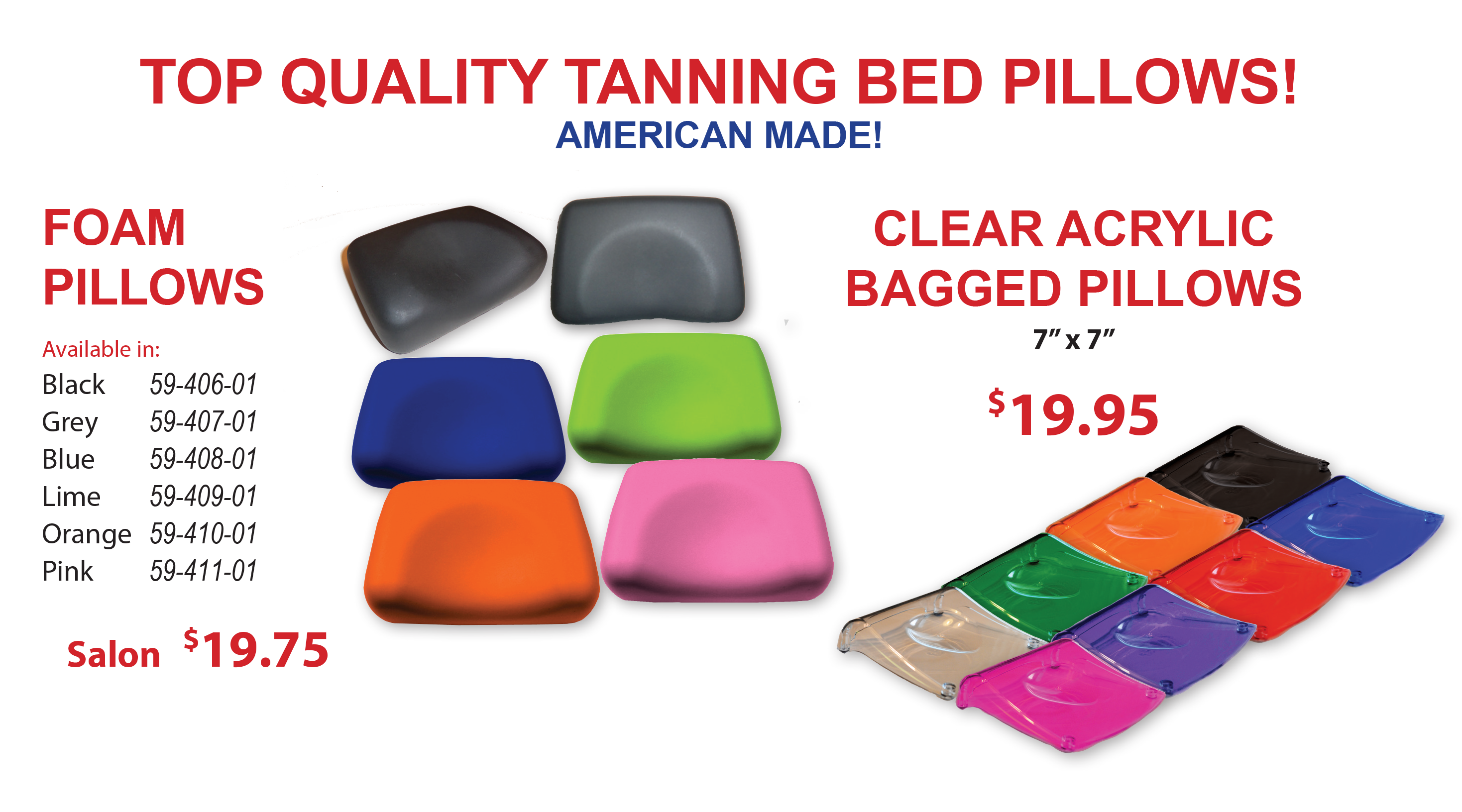 tanning bed pillows